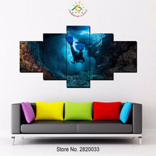 Scuba Diving Ocean Fish Tropical Canvas - The Force Gallery