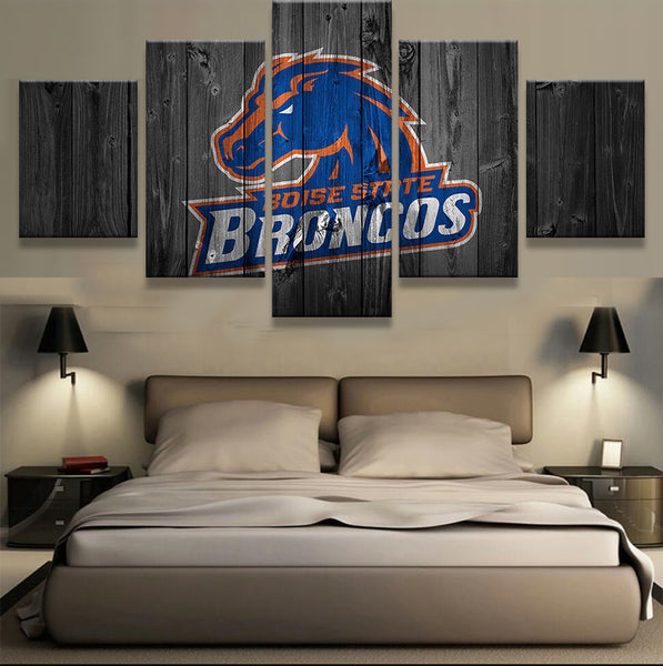 Boise State Broncos Barnwood Style Canvas - The Force Gallery