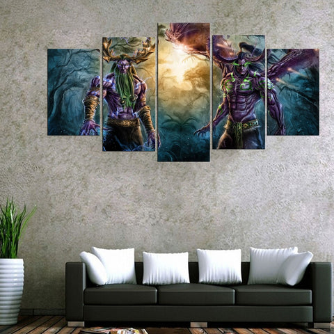 World of Warcraft Fantasy Five Piece Canvas