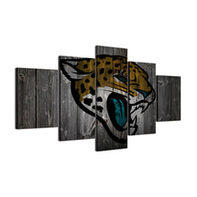 Jacksonville Jaguars Football Canvas Barnwood Style - The Force Gallery