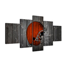 Cleveland Browns Football Canvas Barnwood Style - The Force Gallery