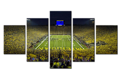 Michigan Wolverines The Big House Stadium Canvas - The Force Gallery