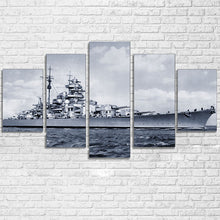Black and White WW2 Navy Destroyer Canvas - The Force Gallery