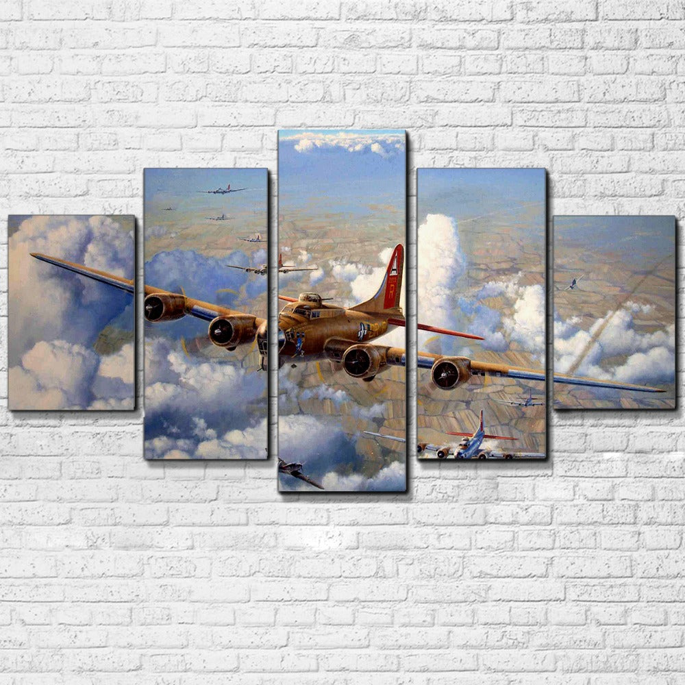 WW2 Bombers Five Piece Canvas - The Force Gallery