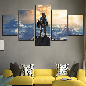 Legend of Zelda Five Piece Canvas Wall Art Panel - The Force Gallery