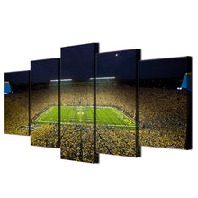 Michigan Wolverines Big House Football Large Framed Canvas - The Force Gallery