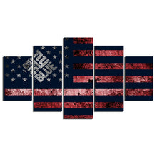 New York Giants Big Blue Flag Canvas - The Force Gallery