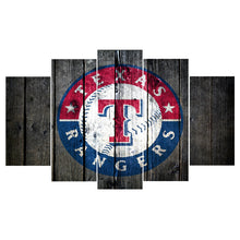 Texas Rangers Barnwood Style Canvas - The Force Gallery