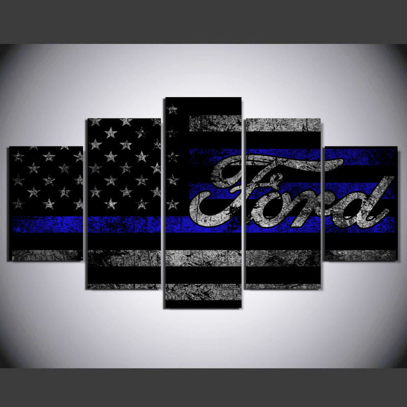 Ford American Flag Canvas - The Force Gallery