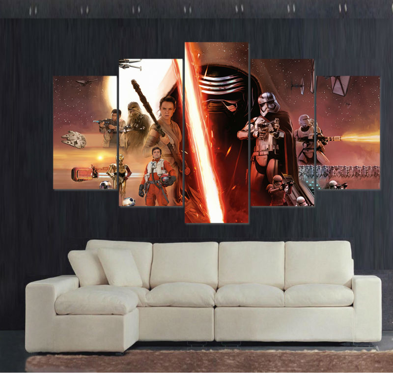 The Last Jedi Star Wars Montage Large Framed Canvas - The Force Gallery