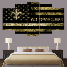 New Orleans Saints Football Who Dat Five Piece Canvas Wall Art Home Decor - The Force Gallery