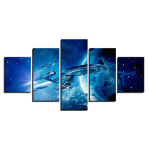 Star Trek Enterprise Large Framed Five Piece Canvas - The Force Gallery