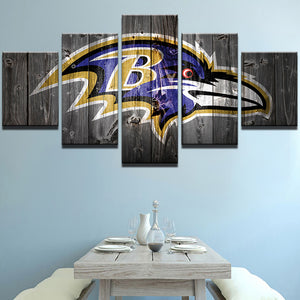 Baltimore Ravens Football Barnwood Style Canvas - The Force Gallery