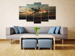 X-Wing Star Wars Sunset Five Piece Canvas Wall Art Home Decor - The Force Gallery