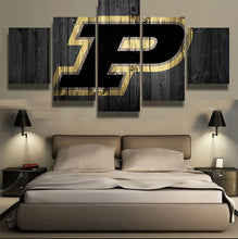 Purdue College Barnwood Style Canvas - The Force Gallery