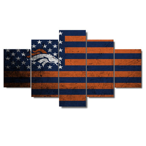 Denver Broncos Football American Flag - The Force Gallery