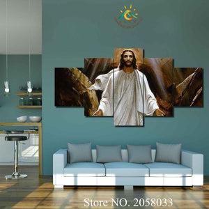 Jesus has Risen Christian Canvas Large Framed - The Force Gallery