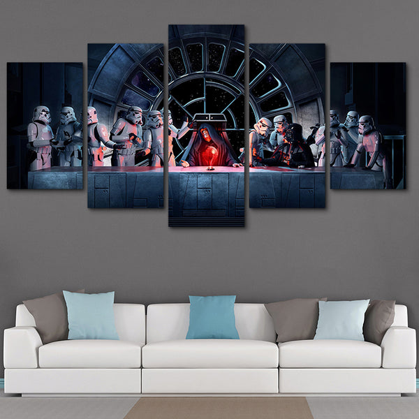 Star Wars Imperial Last Supper Emperoer Darth Vader Stormtrooper Canvas