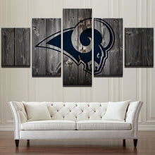 Los Angeles Rams Football Canvas Barnwood Style - The Force Gallery