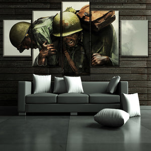 Army Marines Medical Soldier Patriotic Canvas Print Wall Home Decor Five Piece - The Force Gallery