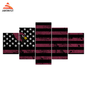 Arizona Cardinals American Flag Canvas - The Force Gallery