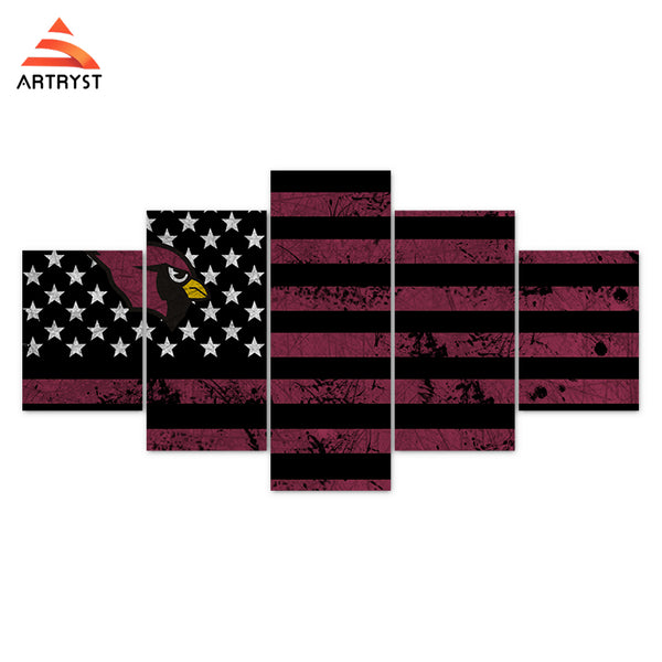 Arizona Cardinals American Flag Canvas