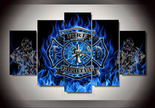 Firefighter Emblem Symbol Five piece Canvas 5pc - The Force Gallery