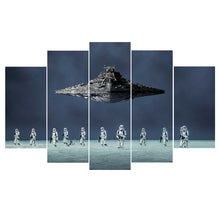 Star Wars Stormtroopers Star Destroyer Five Piece Canvas Wall Art Home Decor - The Force Gallery
