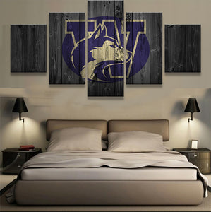 Washington Huskies College Football Canvas Barnwood Style - The Force Gallery