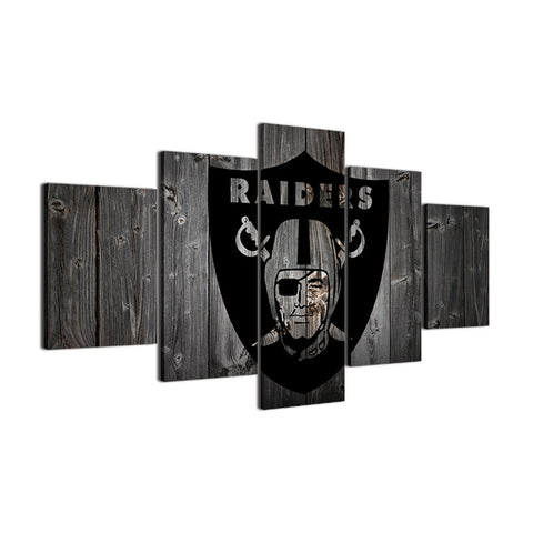 Las Vegas Raiders Barnwood Style Canvas - The Force Gallery