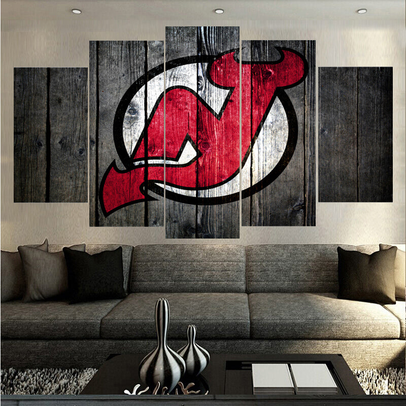 New Jersey Devils Hockey Canvas - The Force Gallery