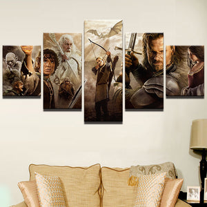 Lord of the Rings Characters Montage Canvas - The Force Gallery