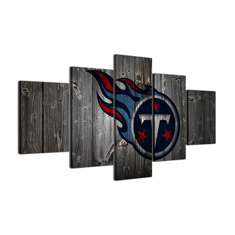 Tennessee Titans Football Barnwood Style Canvas - The Force Gallery