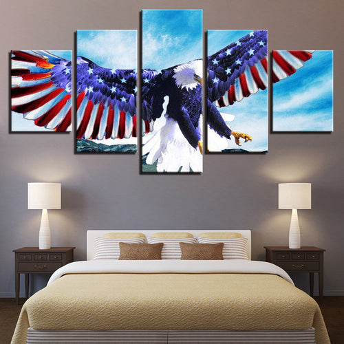 American Flag Bald Eagle Patriotic Canvas - The Force Gallery