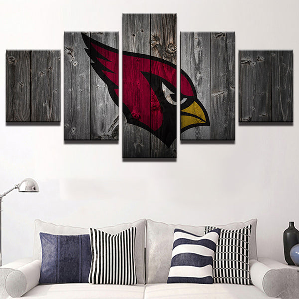 Arizona Cardinals Football Canvas Barnwood Style