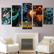 World of Warcraft Fantasy Characters Five Piece Canvas