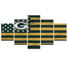 Green Bay Packers American Flag - The Force Gallery
