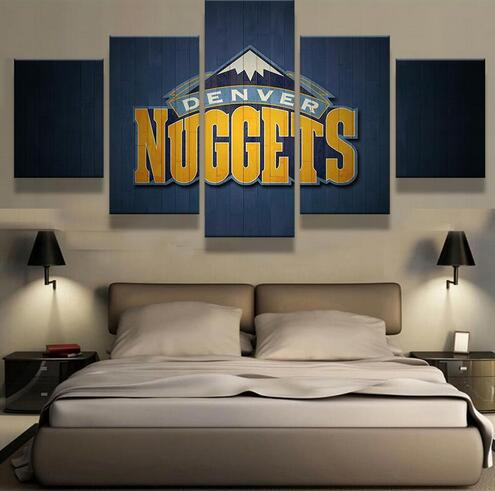 Denver Nuggets Basketball Canvas