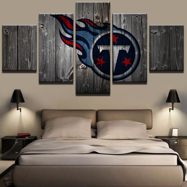 Tennessee Titans Football Barnwood Style Canvas