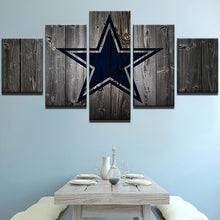 Dallas Cowboys Football Canvas Barnwood Style - The Force Gallery