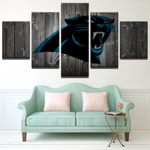 Carolina Panthers Football Canvas Barnwood Style - The Force Gallery