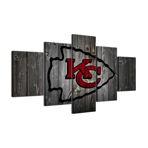 Kansas City Chiefs Football Canvas