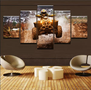 Four Wheeler Dirt Racing Motocross Canvas - The Force Gallery