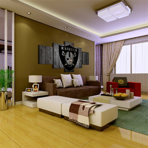Las Vegas Raiders Barnwood Style Canvas