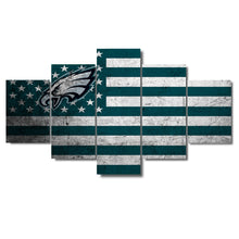 Philadelphia Eagles American Flag Canvas - The Force Gallery