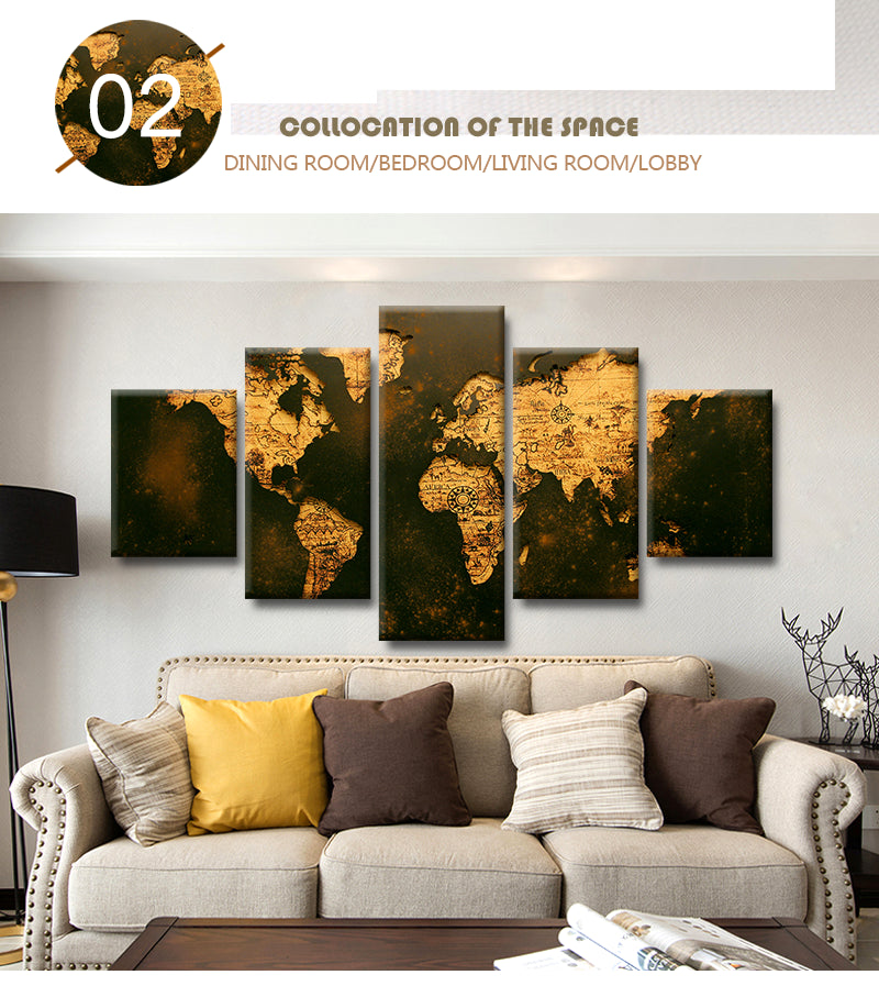 Old World Map Canvas.Rustic Old World Map Canvas Framed The Force Gallery