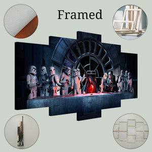 Star Wars Imperial Last Supper Emperoer Darth Vader Stormtrooper Canvas - The Force Gallery