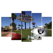 Las Vegas Raiders Football Canvas - The Force Gallery