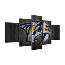 Nashville Predators Hockey Barnwood Style Canvas - The Force Gallery