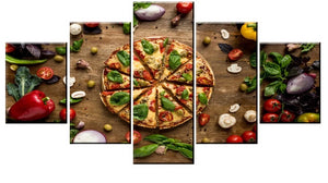 Pizza Restaurant Decor Five Piece Canvas Wall Art Home Decor Multi Panel 5 - The Force Gallery